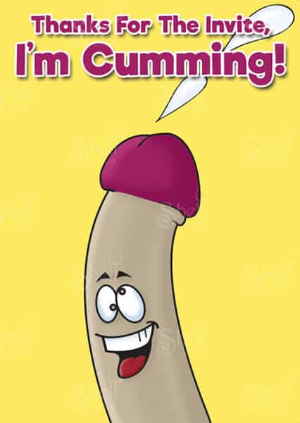 I'm cumming - Funny Adult Greeting Card from Shelt