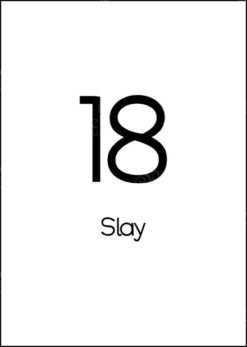 Plainwhite 18 birthday card titled: 18 Slay